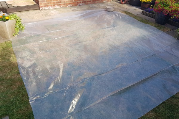 Sheet Up Garden to Replace Flat Roof Essex